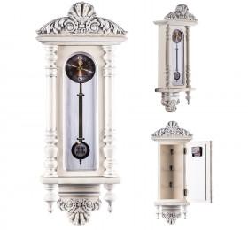 """Ключница """"Часы"""" белая, серебро"""