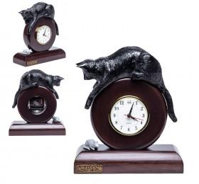 "Часы ""Кошка с мышкой"", чёрная"